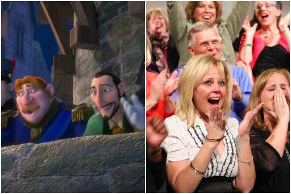 Arendelle Citizens from Disney's 'Frozen' and Oprah's audience