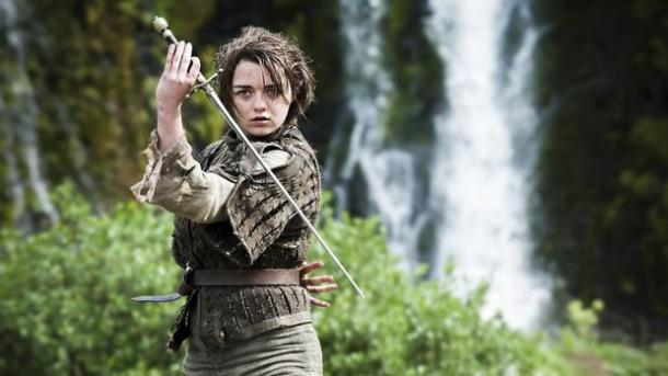 Arya is travelling to Braavos.