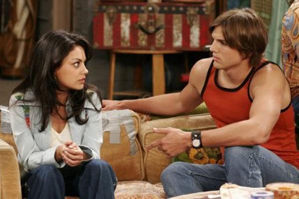 mila kunis and ashton kutcher in that 70s show
