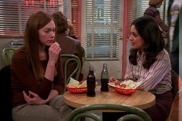 Mila Kunis and Laura Prepon on that 70s show