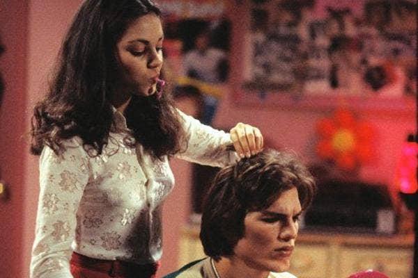 Ashton Kutcher and Mila Kunis That 70s Show
