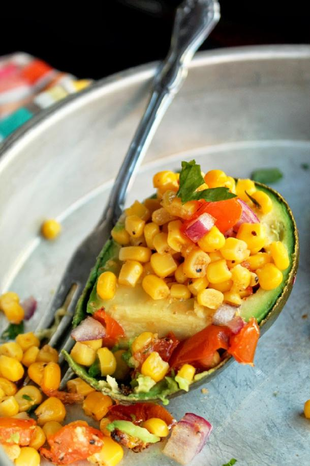 "photo: <a href=""http://notveganyet.blogspot.com/2014/03/roasted-corn-and-tomato-stuffed-avocados.html "" target=""_blank"">Not Vegan Yet </a>"
