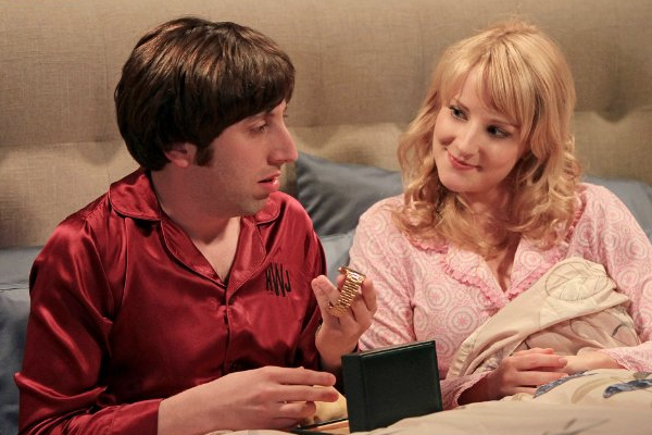 Simon Helberg and Melissa Rauch