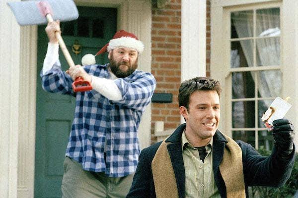 Ben Affleck and James Gandolfini from Surviving Christmas
