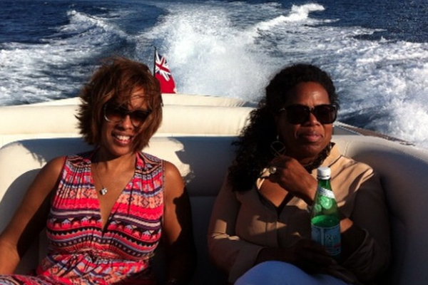 Celebrity Female Best Friends Oprah Winfrey and Gayle King