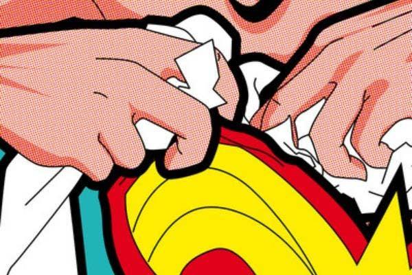 Wonder Woman stuffing bra