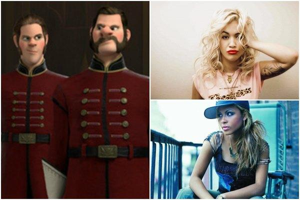 The Duke of Weselton's bodyguards from Disney's 'Frozen,' Rita Ora and Christina Milian