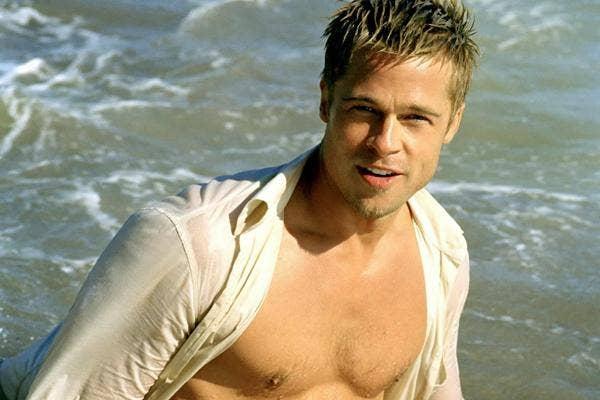 Brad Pitt shirtless