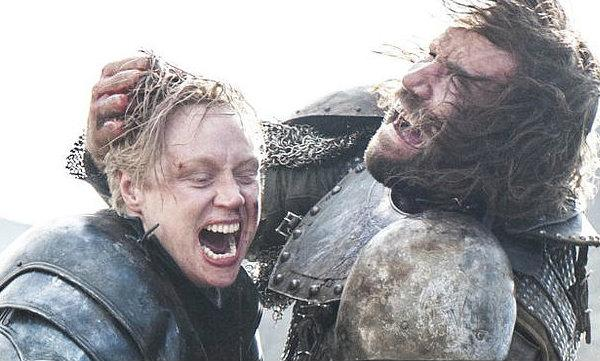 Brienne and The Hound fight.