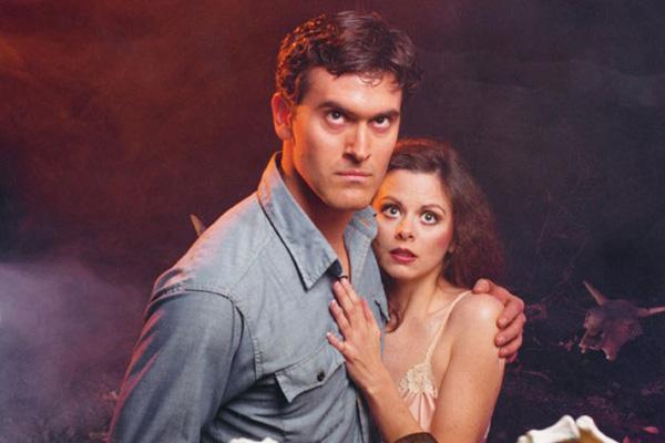 Bruce Campbell and Ellen Sandweiss in Evil Dead