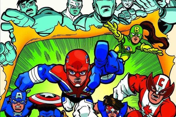 Captain Britain from Marvel Super Hero Squad