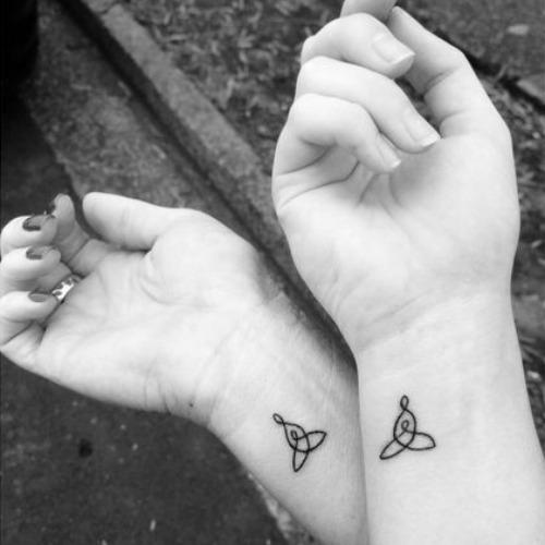 celtic knot mother daughter tattoos
