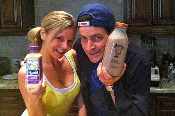 bree olson charlie sheen naked juice