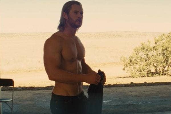 Chris Hemsworth in Thor shirtless