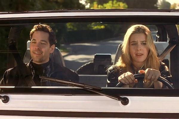 Paul Rudd as Josh and Alicia Silverstone as Cher Horowitz from Clueless