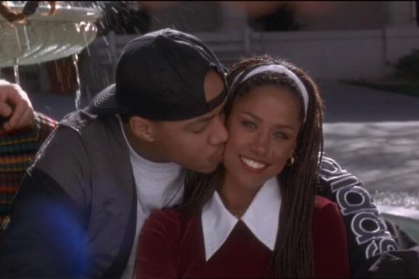 Donald Faison and Stacey Dash as Murray and Dionne from Clueless