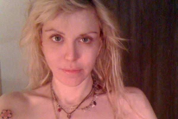 Courtney Love topless