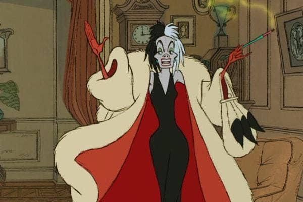 disney villains, cruella de vil, cruella devil, 101 dalmatians, disney 101 dalmatians, 101 dalmatians villain, disney villain, disney 101 dalmatians cruella devil