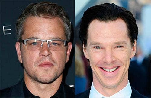 Benedict Cumberbatch and Matt Damon