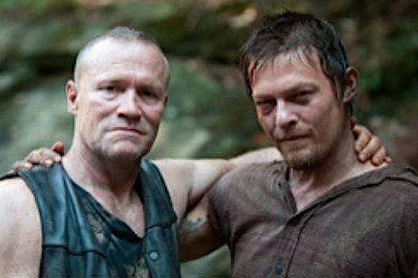Michael Rooker as Merle Dixon and Norman Reedus as Daryl Dixon on 'The Walking Dead' AMC