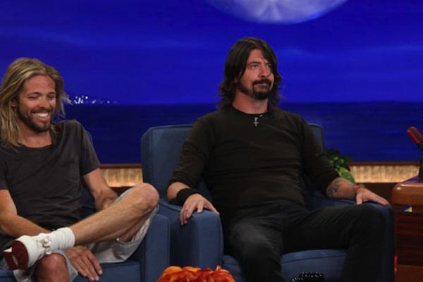 Dave Grohl from Conan dave grohl courtney love kurt cobain nirvana dave grohl kurt cobain