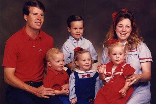 Jim Bob Duggar Michelle Duggar Duggar Family young