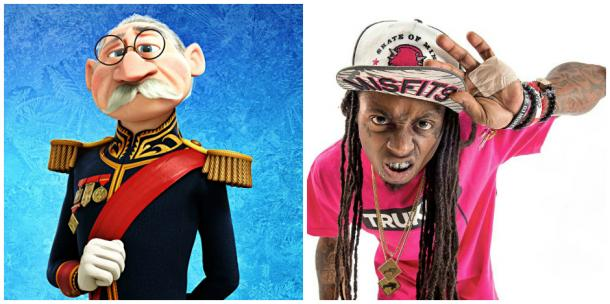 "The Duke Of Weselton from Disney's ""Frozen"" and Lil Wayne"