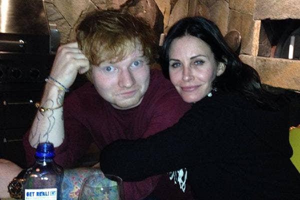 Ed Sheeran Courteney Cox, courteney cox, ed sheeran, courteney cox ed sheeran, ed sheeran instagram, courteney cox instagram