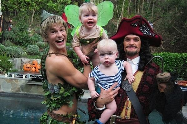 Neil Patrick Harris and David Burtka Halloween