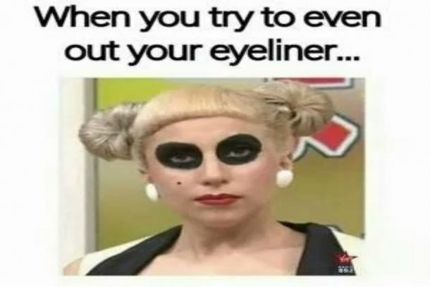 Trying to even out our makeup