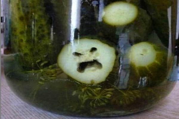 Pickle face.