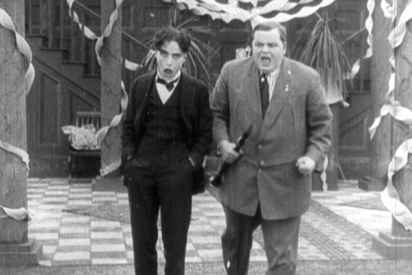 Fatty Arbuckle and Charlie Chaplin in Tango Tangles