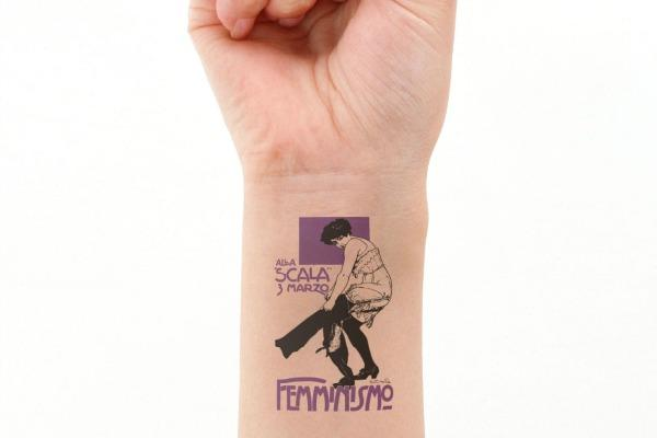 Feminist gifts: Vintage suffragette temporary tattoo