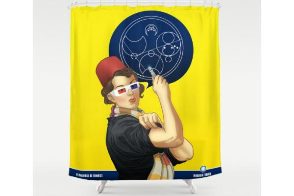 Feminist gifts: Rosie The Riveter Shower curtain