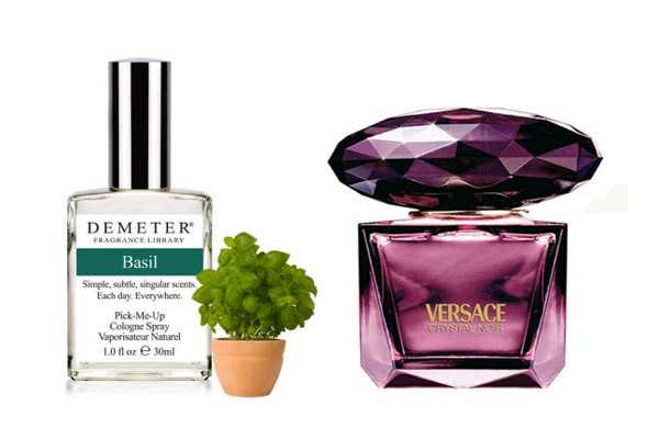 Demeter Basil and Versace Crystal Noir