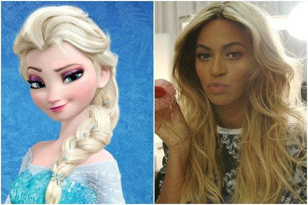 Queen Elsa of Disney's 'Frozen' and Beyonce