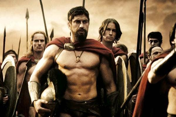 Gerard Butler in 300 as King Leonidas