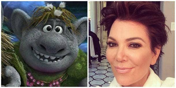 Bulda of Disney's 'Frozen' and Kris Jenner