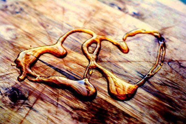 Liquid gold hearts