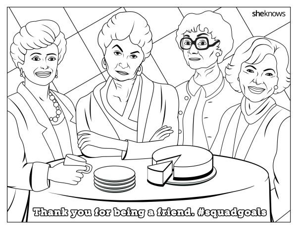 This \'Golden Girls\' Coloring Book Page Gives Us LIFE | YourTango