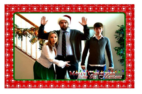 Embarrassing Christmas Photo Card.