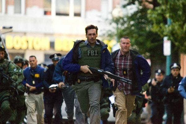 Jon Hamm fighting crime in the Town