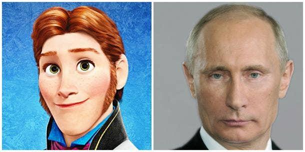 Prince Hans of Disney's 'Frozen' and Vladimir Putin
