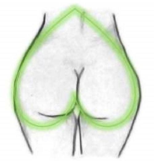 A-shaped butt shape