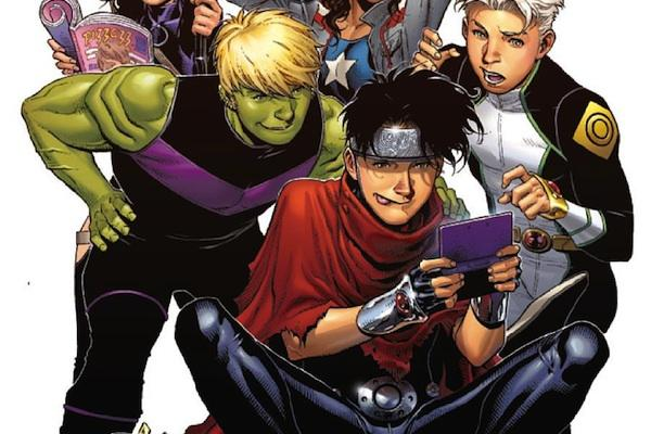 hulkling wiccan from Young Avengers 5 marvel comics lgbt superheroes super hero lgbtq gay lesbian bisexual
