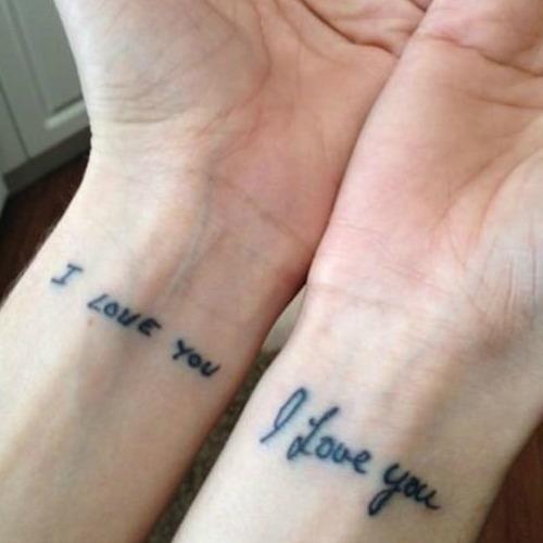 i love you mother daughter tattoos