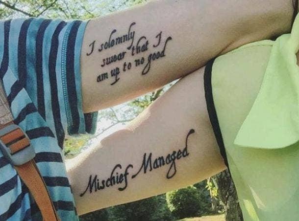 10. Marauder's Map Tattoos