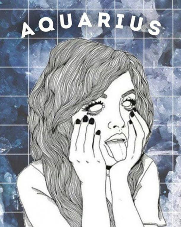aquarius zodiac sign when you're sad after a breakup