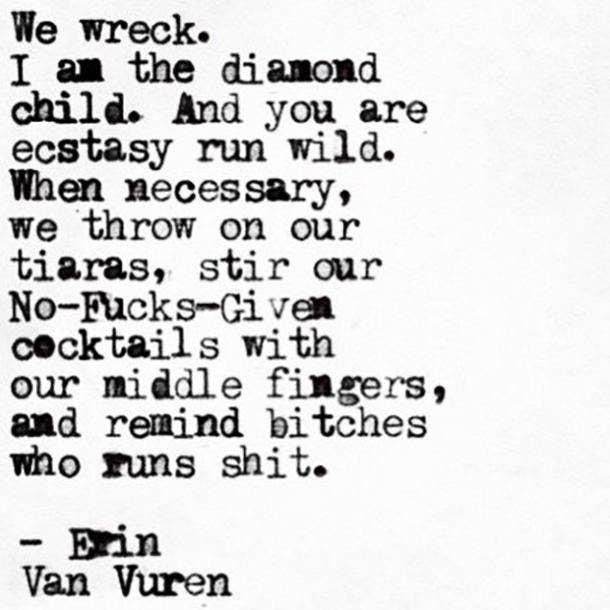 Erin Van Vuren Poetry Life Quotes