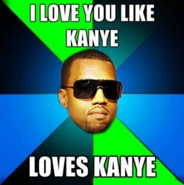 Kanye I love you meme
